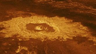 Venus Crater Farm image taken by the Magellan spacecraft for NASA
