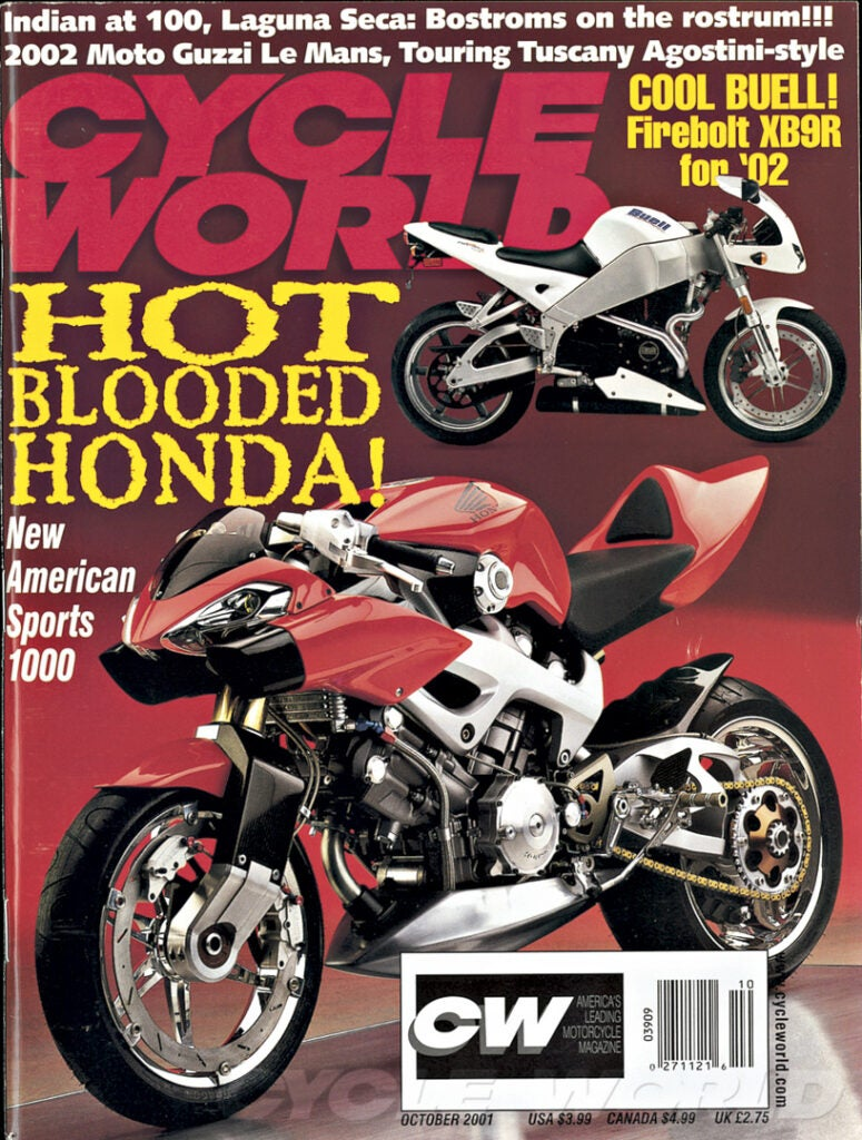Honda's 1991 NAS 1000 concept was based on an existing streetbike but never saw production.