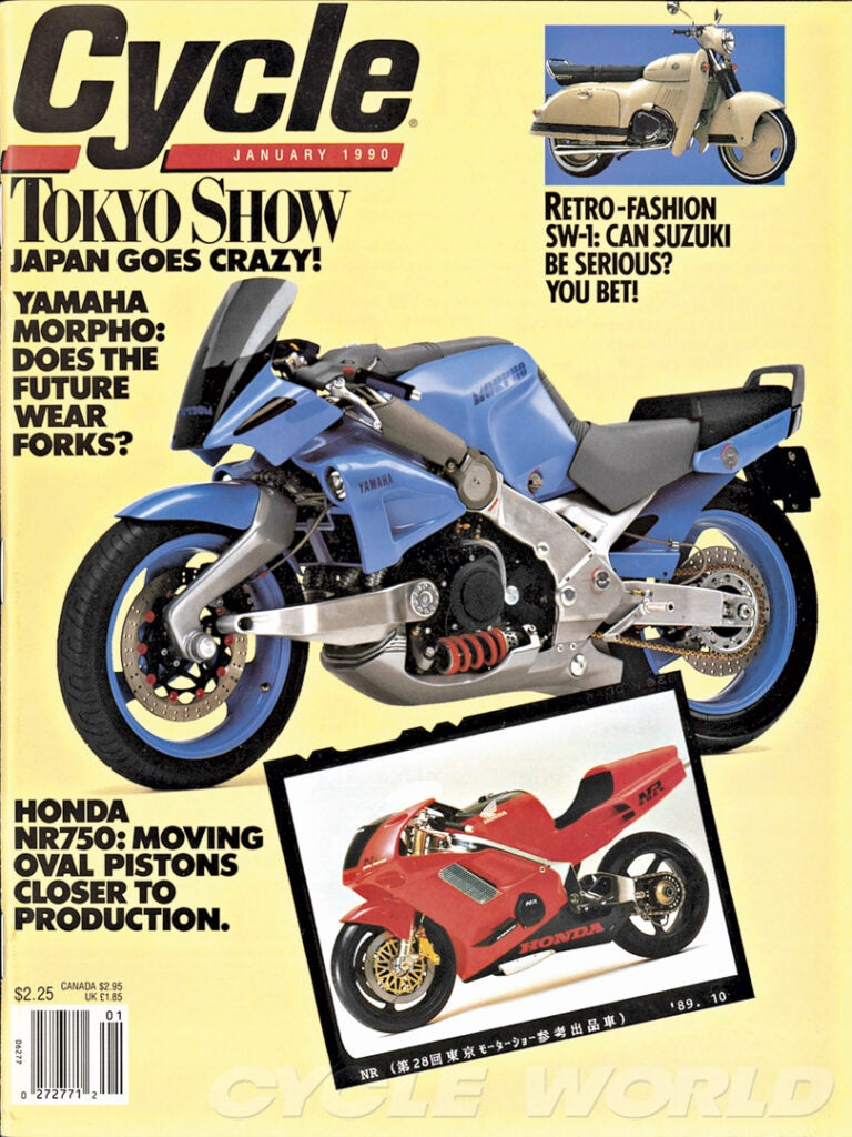 Even outlandish concept bikes like the 1990 Yamaha Morpho often hint at later production machines.