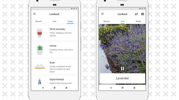 interface of the Lookout Seeing-eye app by Google