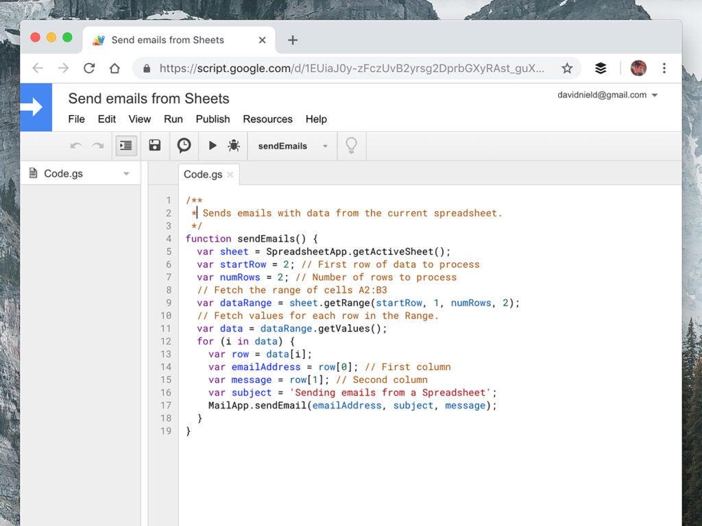 Google Sheets script