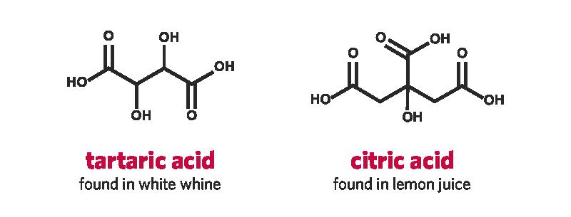 tartaric acid and citric acid