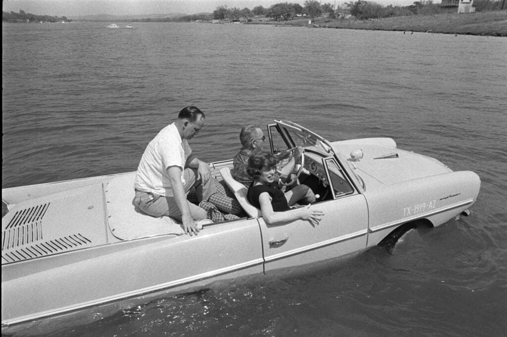 Lyndon Baines Johnson LBJ Amphicar