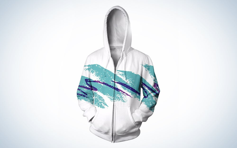 a hoodie with the solo jazz cup pattern