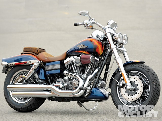 The paint, the chrome, and the power of the CVO Fat Bob let you know how much fun this motorcycle is.