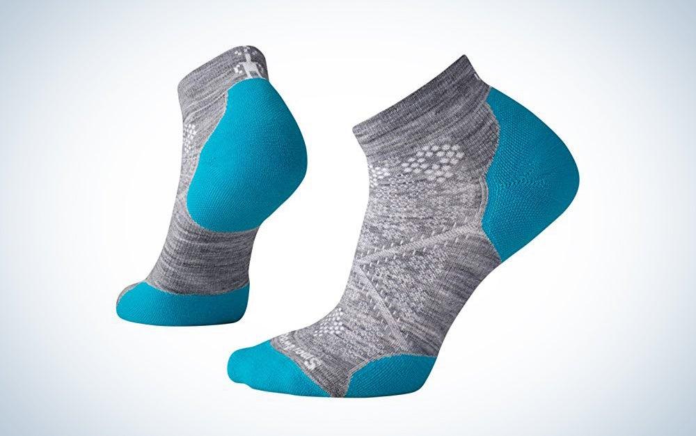 smartwool brand socks in blue