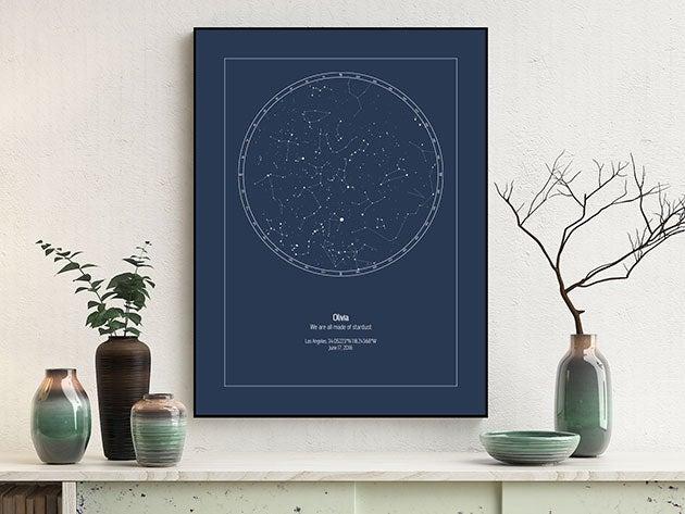Strellas Personalized Digital Star Maps