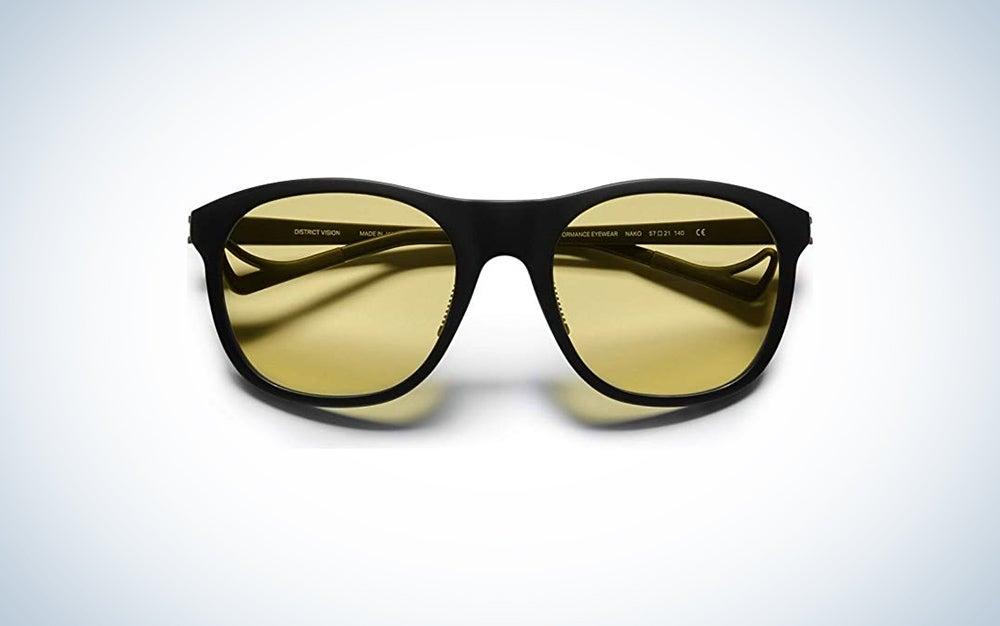 black running sunglasses