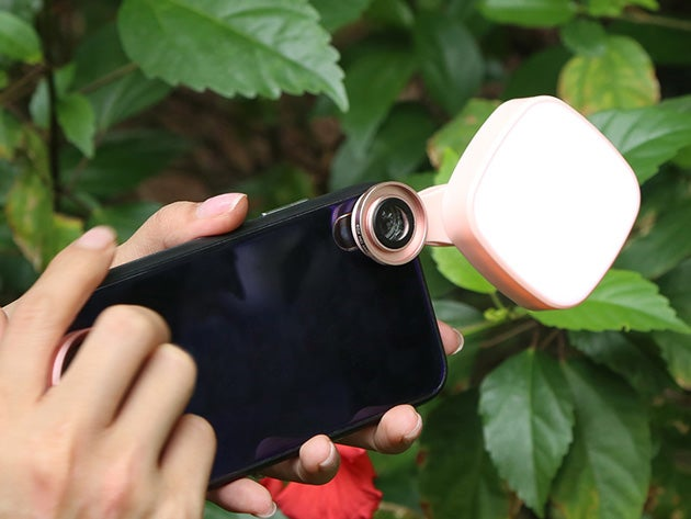 2-in-1 Universal Camera Lens with Selfie LED Light
