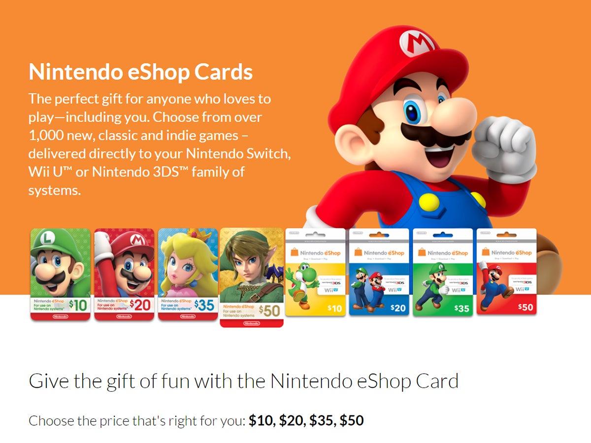 Nintendo eShop gift