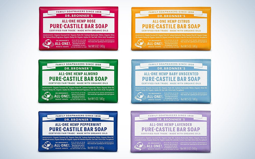 Dr. Bronner's soap samples