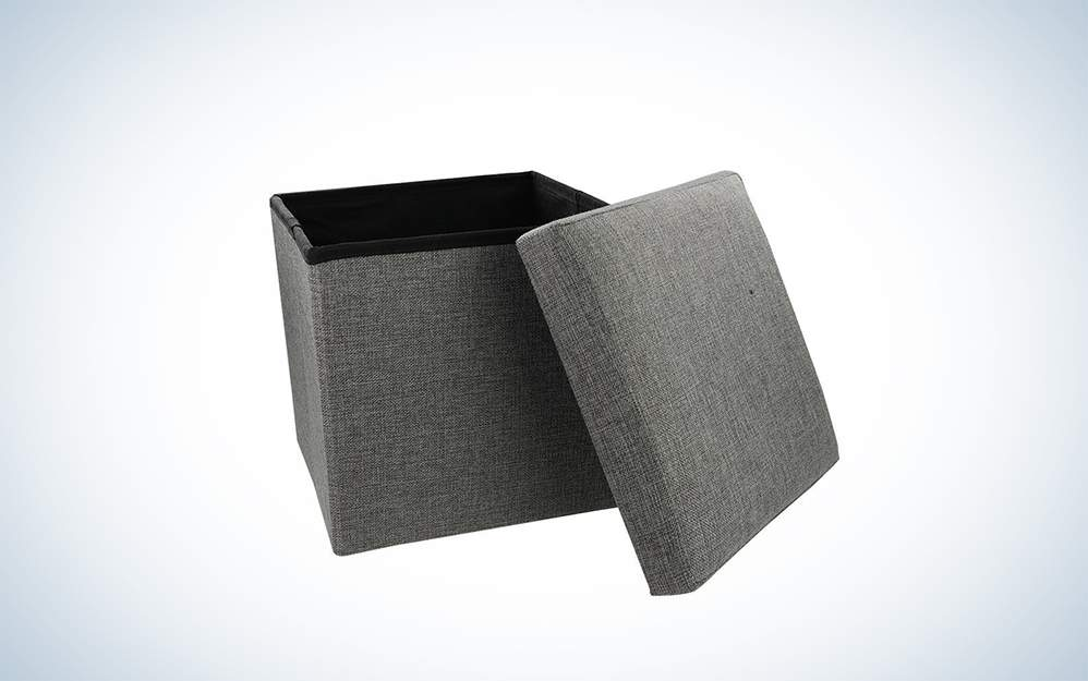 Nisuns Folding Storage Ottoman Cube