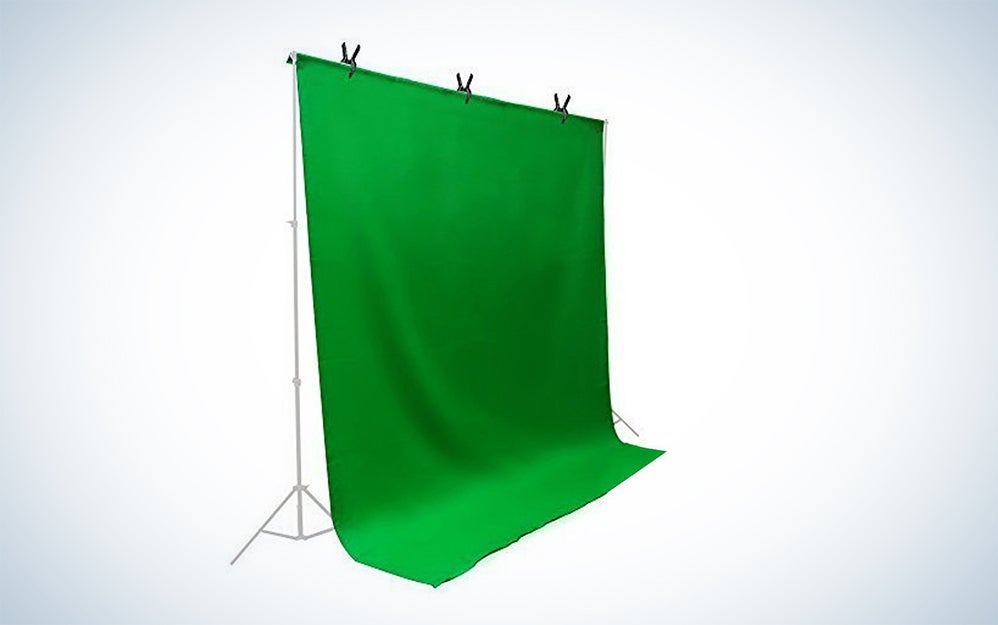 LimoStudio Green Chromakey Muslin Backdrop and Stand
