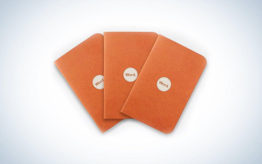 Word Notebooks Orange