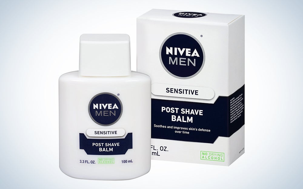Bottle and box of post-shave balm