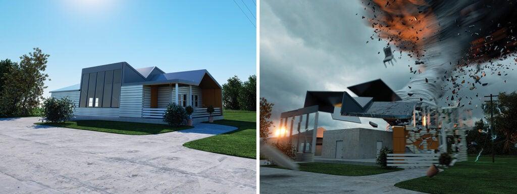 tornado resistant house