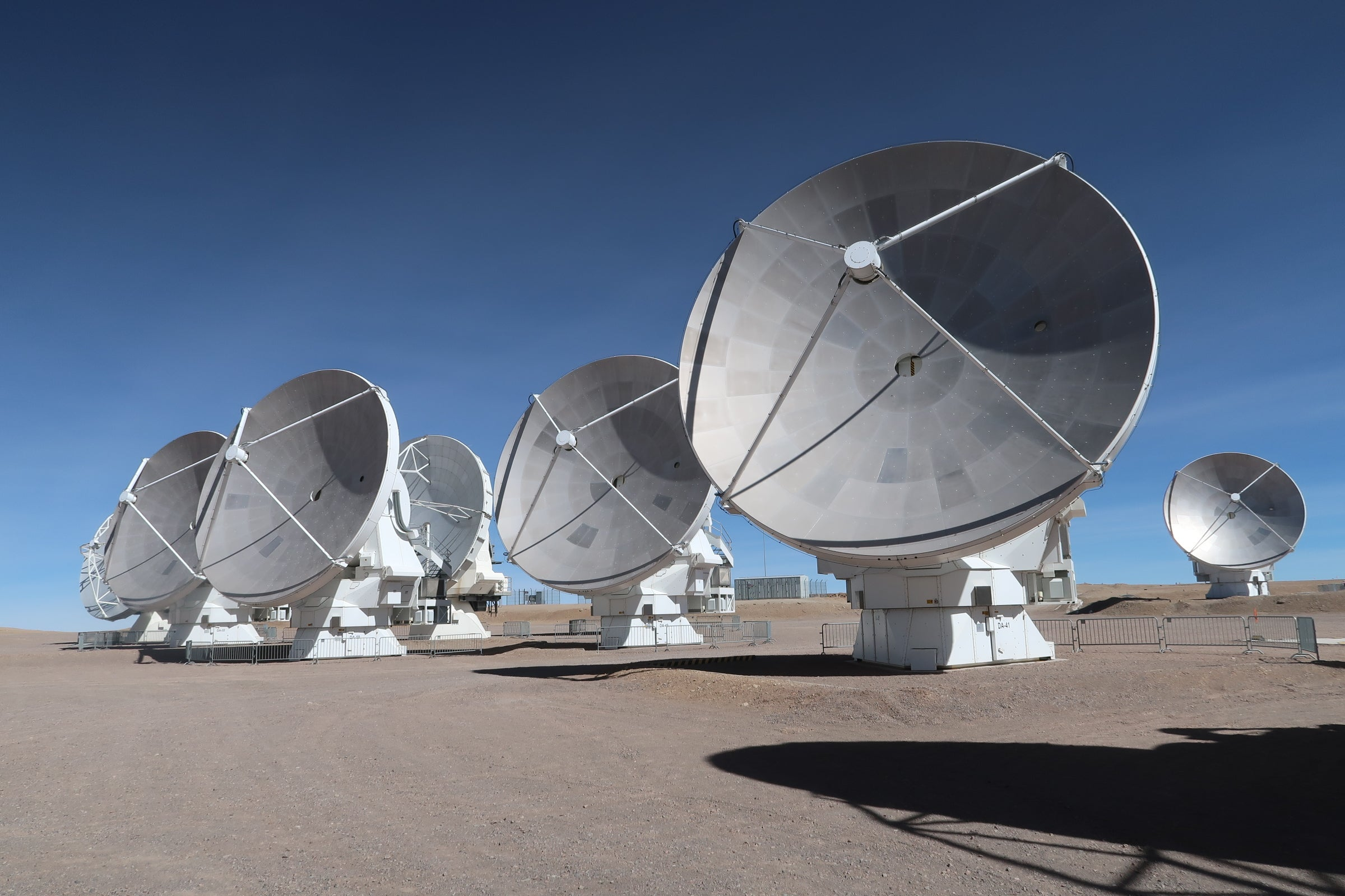 A handful of large dishes point skyward