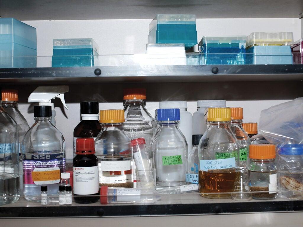 Chemicals for testing venoms