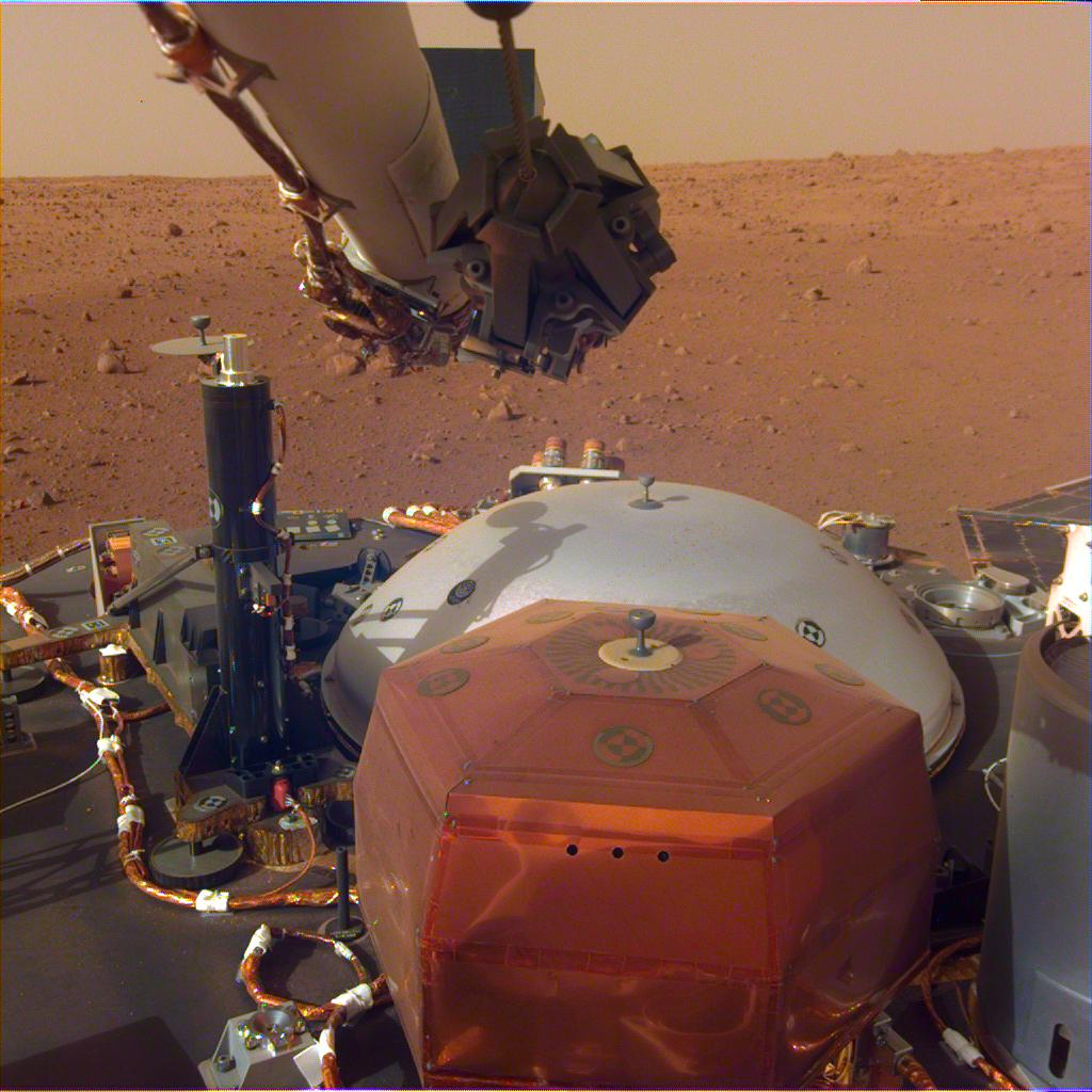 insight lander set up mars