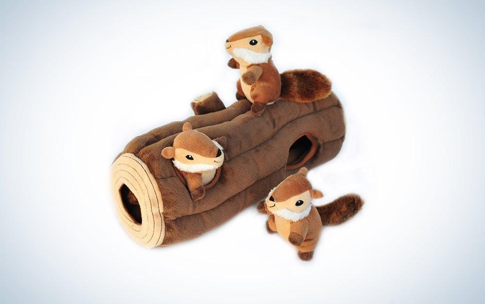 ZippyPaws Squirrel Log Toy