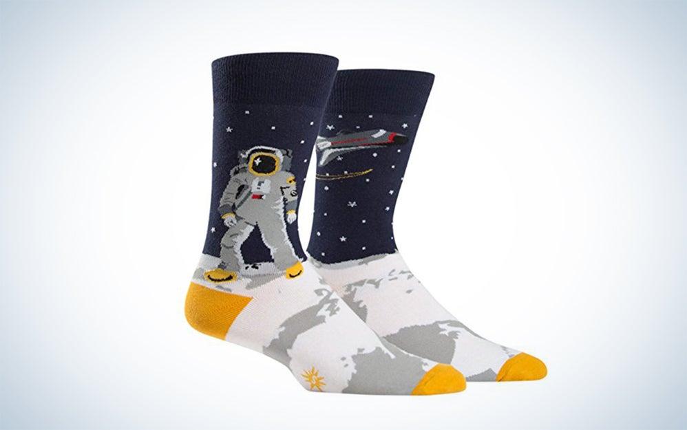socks with astronauts on them