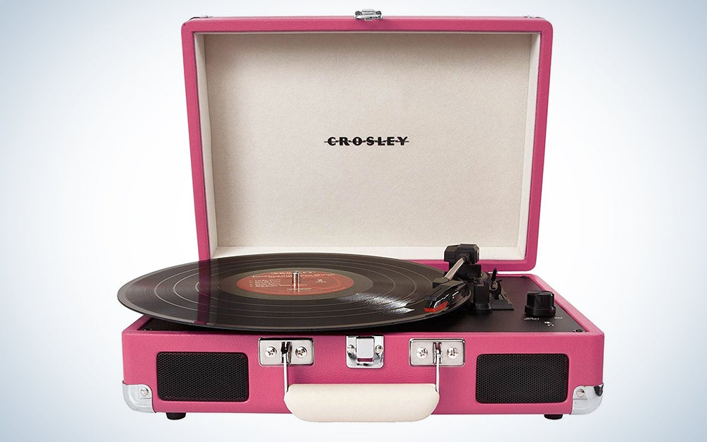 pink record player