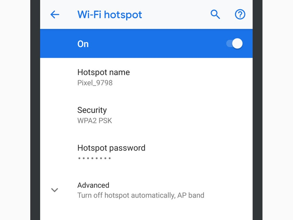 Android Wi-Fi hotspot