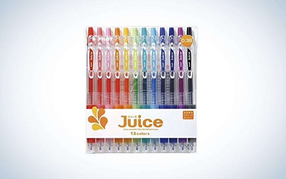 a pack of juice gel pens