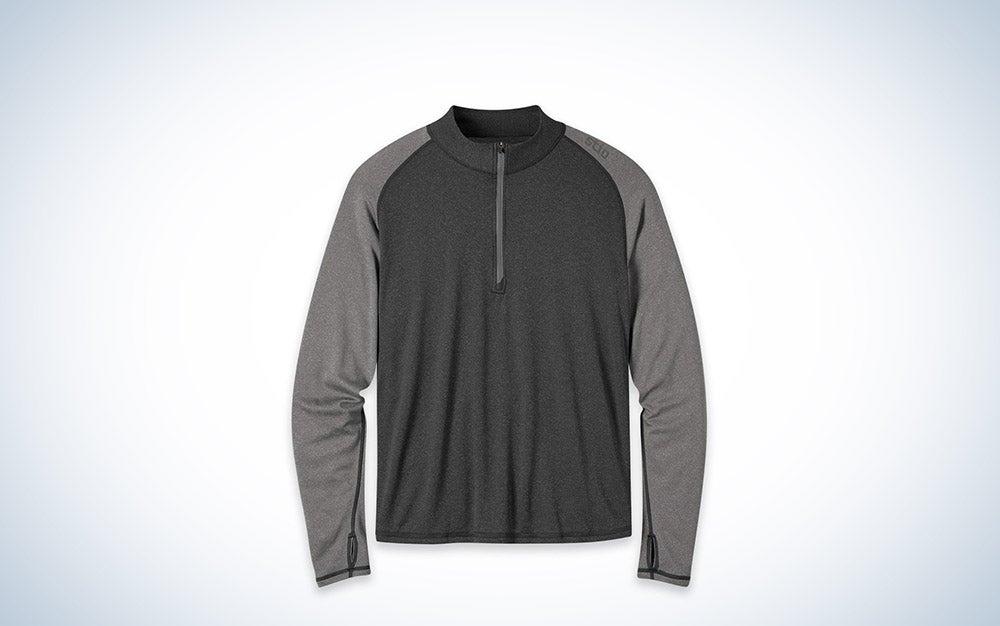 Stio Basis Power Wool Zip Neck