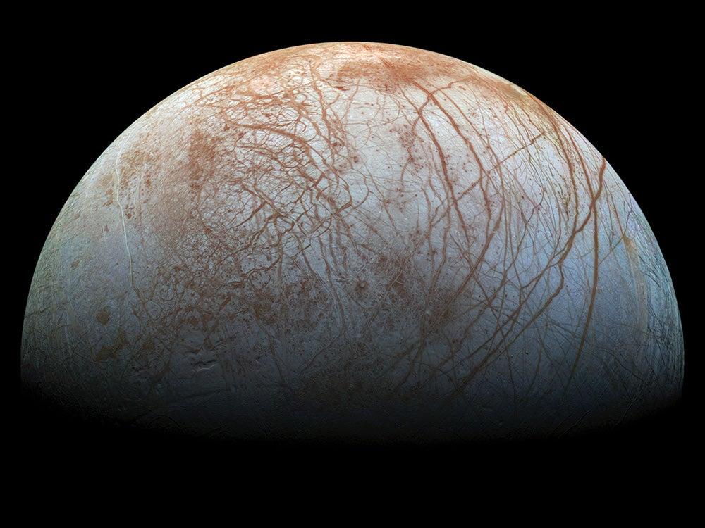 Ice Moon Cracks lining Europa