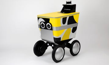 Self-driving, burrito-carrying rovers are going to talk to us with their eyes