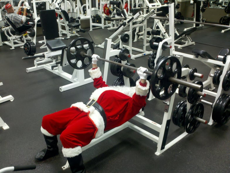 Even Santa works out