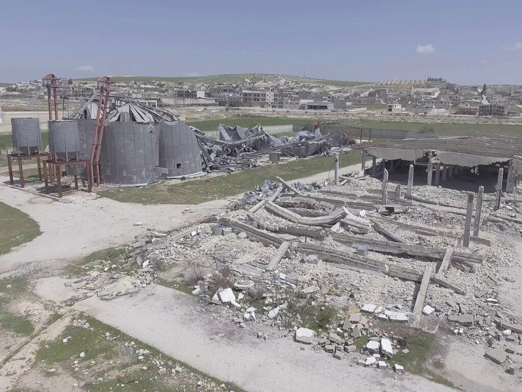 destroyed site in Khan Shaykhun
