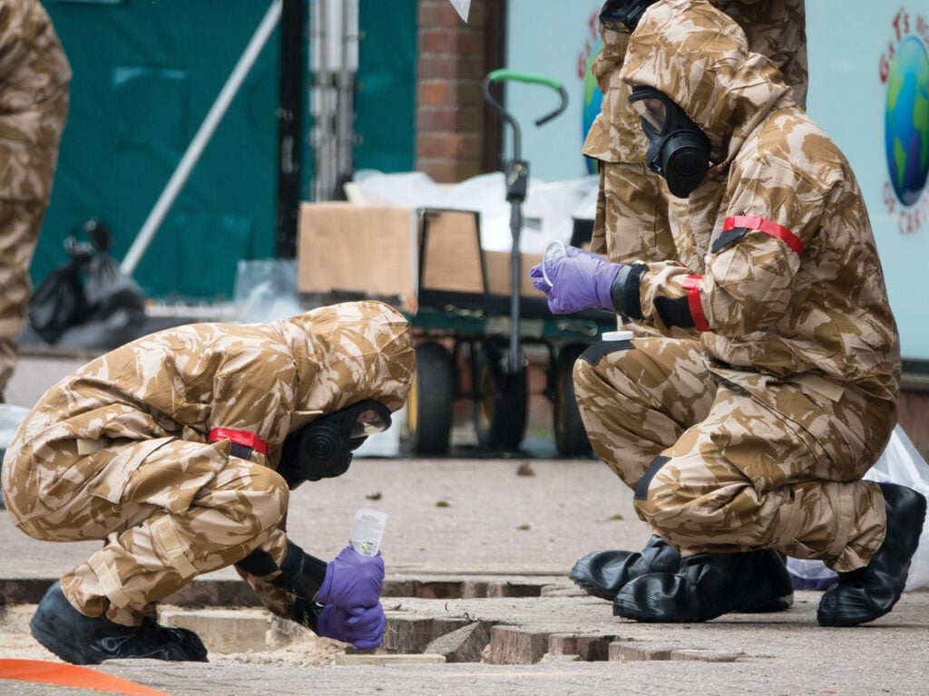 United Kingdom military cleaning up poison