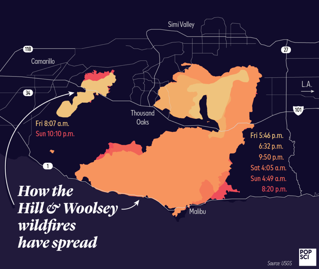 hill woolsey fire spread
