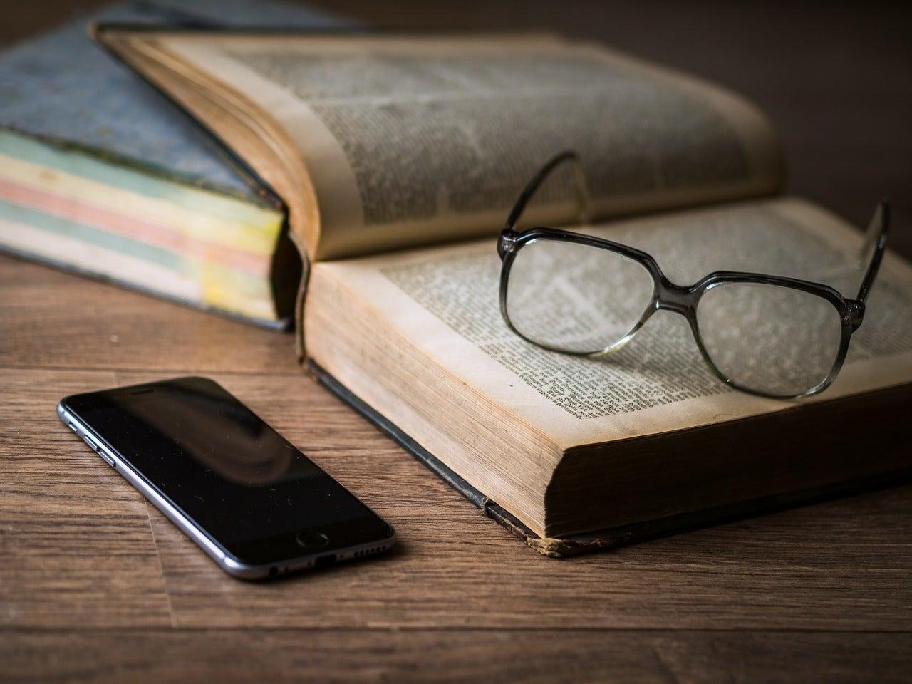 Paper book ereader smartphone