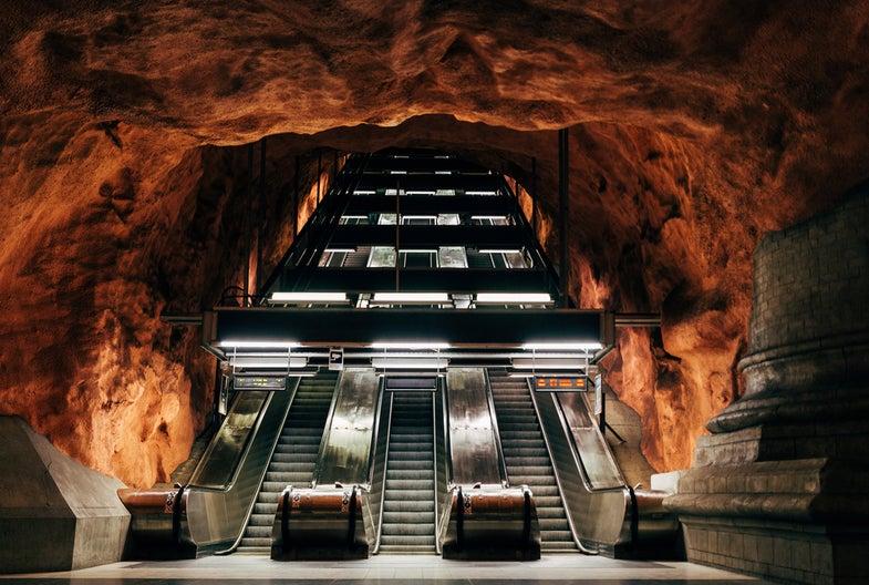 Underground living engineering escalator Earth