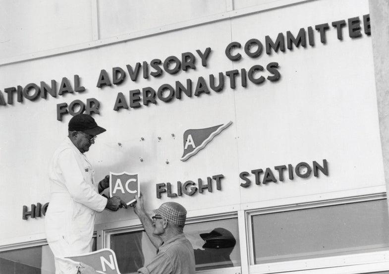 workers NASA