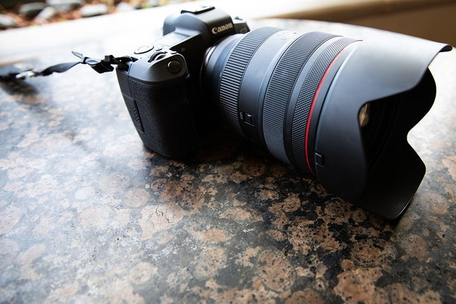 Side view of the Canon EOS R.