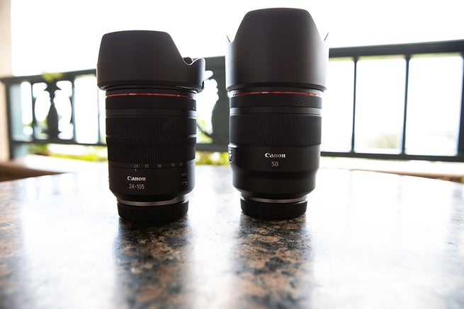 The  RF 24-105mm F4 L IS USM and RF 50mm F1.2 L USM will be available in October 2018 with the camera body.