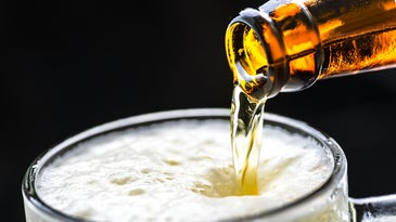 beer lager pour