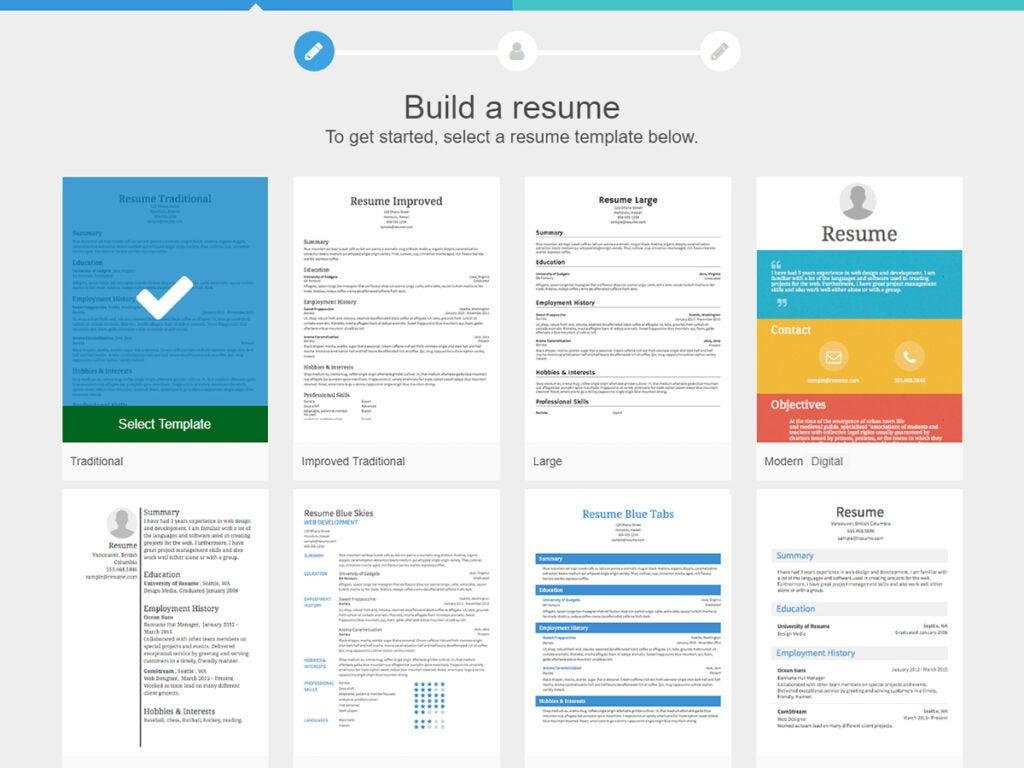 Resume.com resume builder