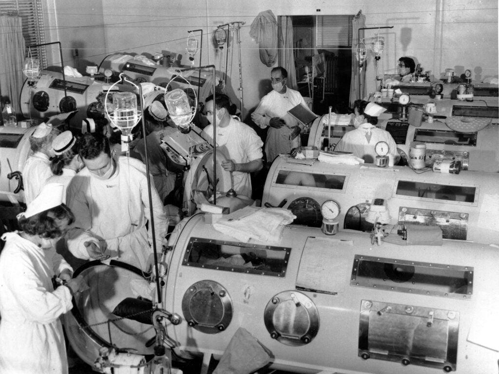 polio iron lungs