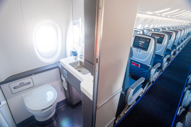 airplane bathroom window