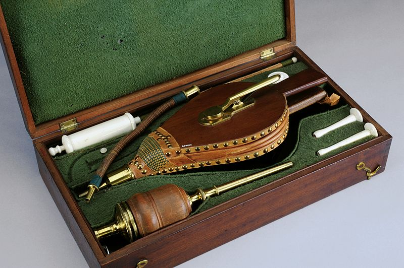 an enema kit with a bellows