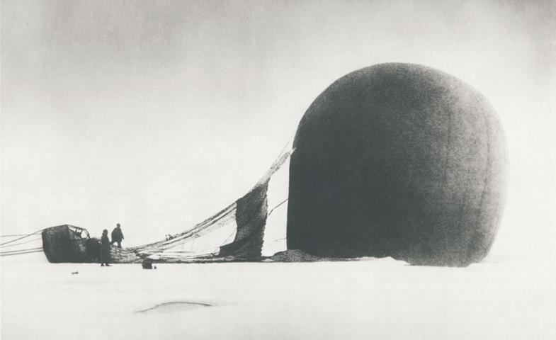 a hydrogen balloon on its side