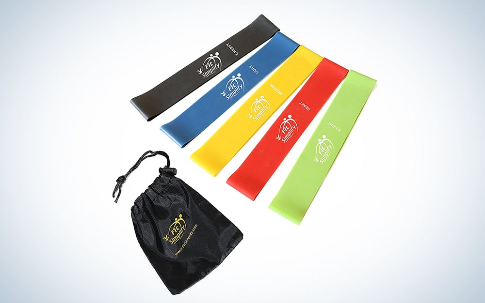 Letsfit Resistance Loop Bands, Resistance Exercise Bands for Home Fitness, Stretching, Strength Training, Physical Therapy, Natural Latex Workout Bands, Pilates Flexbands