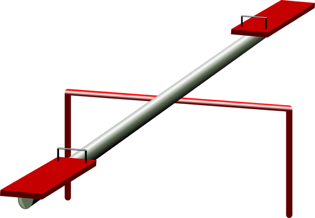 a seesaw
