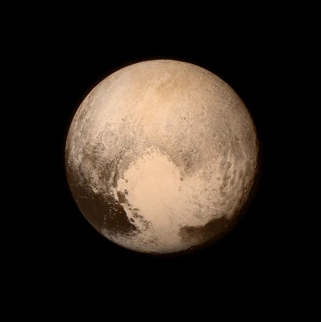 Pluto as seen just before the New Horizons flyby