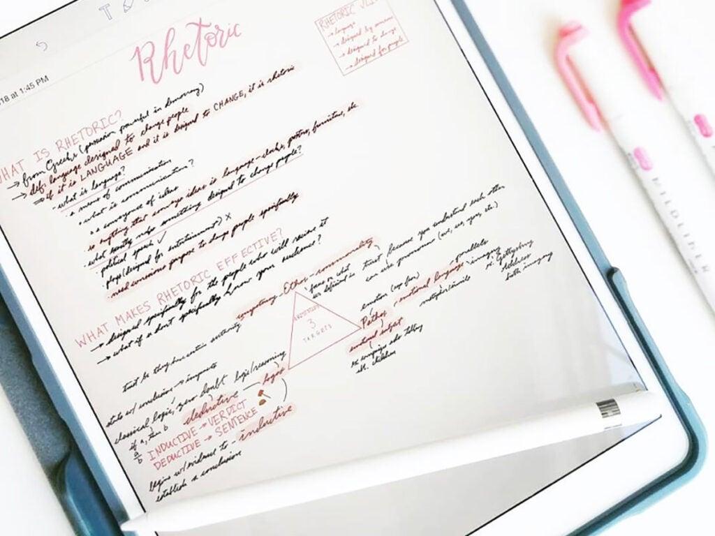 Notability iPad Pro app